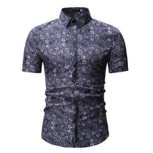Load image into Gallery viewer, 2019 New Men's Short Sleeve Hawaiian Shirt Summer Style  Men Casual Beach Hawaii Shirts Fit Slim Male Blouse Summer Top