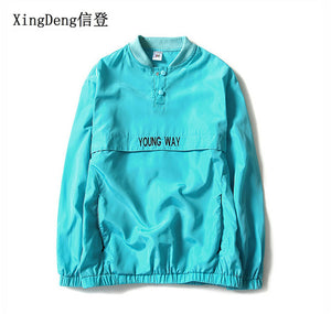 XingDeng fashion Tide Brand off new reflective Jacket Men windbreaker Bomber Jackets large size 4XL chaqueta hombre