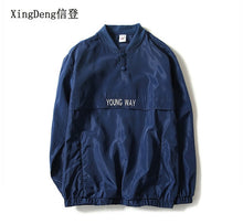 Load image into Gallery viewer, XingDeng fashion Tide Brand off new reflective Jacket Men windbreaker Bomber Jackets large size 4XL chaqueta hombre