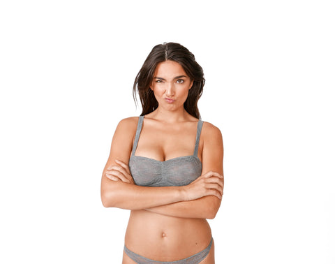 Jewel Toned Lace Bralette Grey
