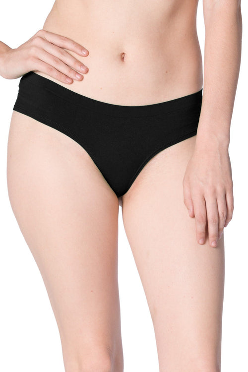 black hipster seamless panty