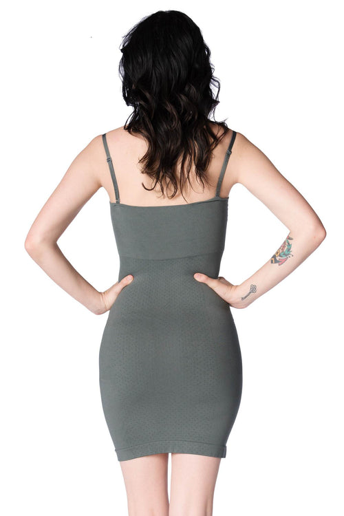 The Major Mini Dress: Titanium