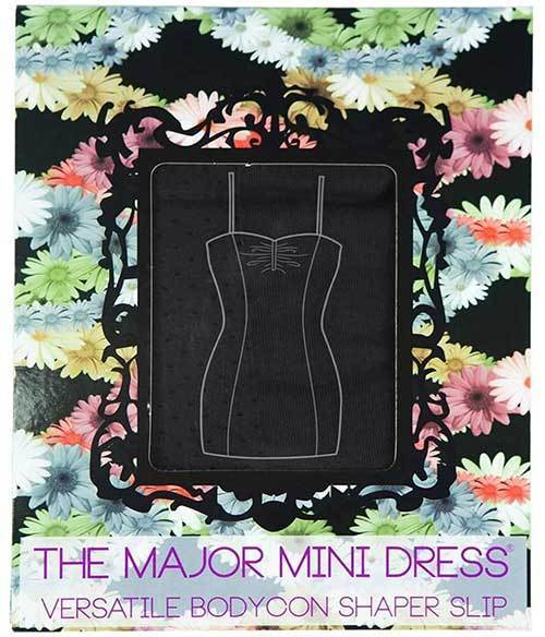 The Major Mini Dress: Black