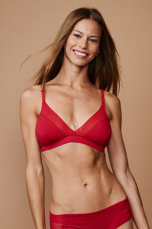 Everyday Super Soft Bralette: Red