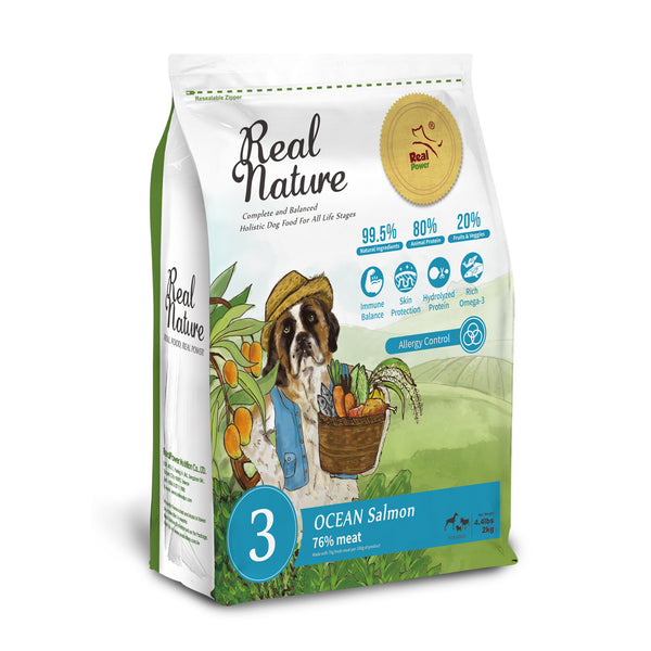 Real Nature Holistic Dog Food No.3 Ocean Salmon for Allergy Control