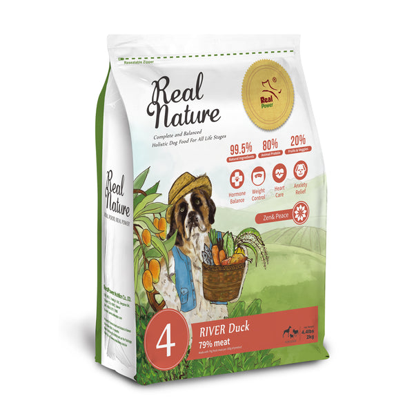 Real Nature Holistic Dog Food No.4 River Duck for Emotional Wellbeing & Weight Maintenance