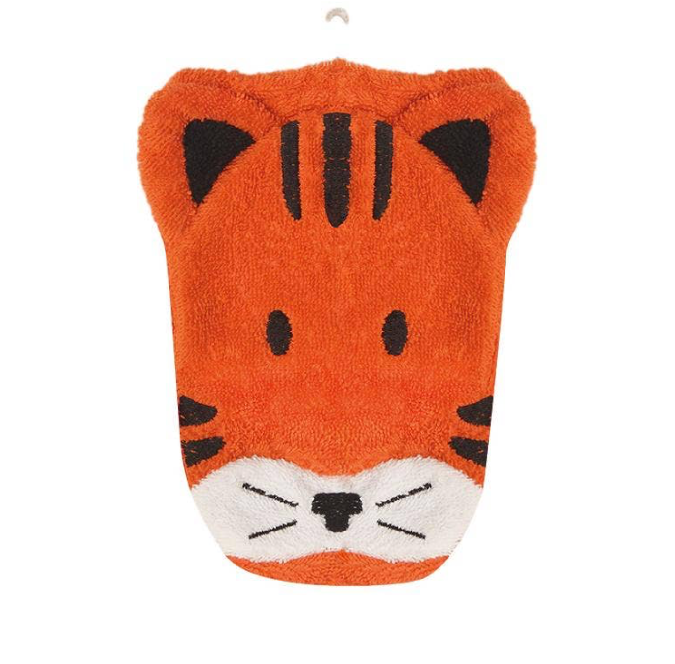 Organic Cotton Animal Washcloth - Tiger