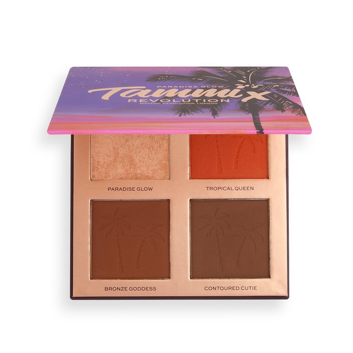 Revolution x Tammi Tropical Twilight Face Palette Golden Glow Deep