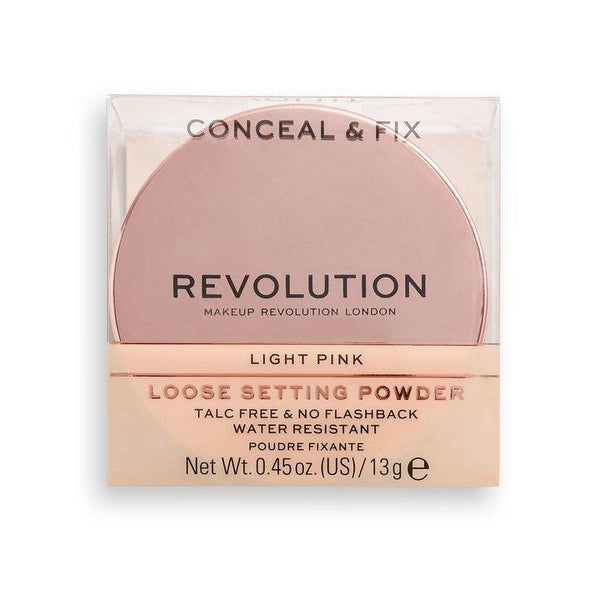 Revolution Conceal & Fix Setting Powder Light Pink - BeautyBound
