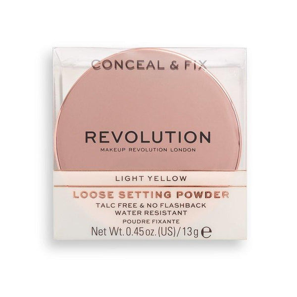 Revolution Conceal & Fix Setting Powder Light Yellow - BeautyBound