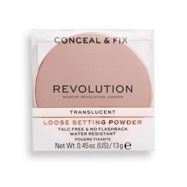 Revolution Conceal & Fix Setting Powder Translucent - BeautyBound
