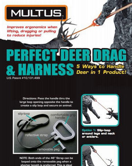 How to use a deer drag and harness deer drag?