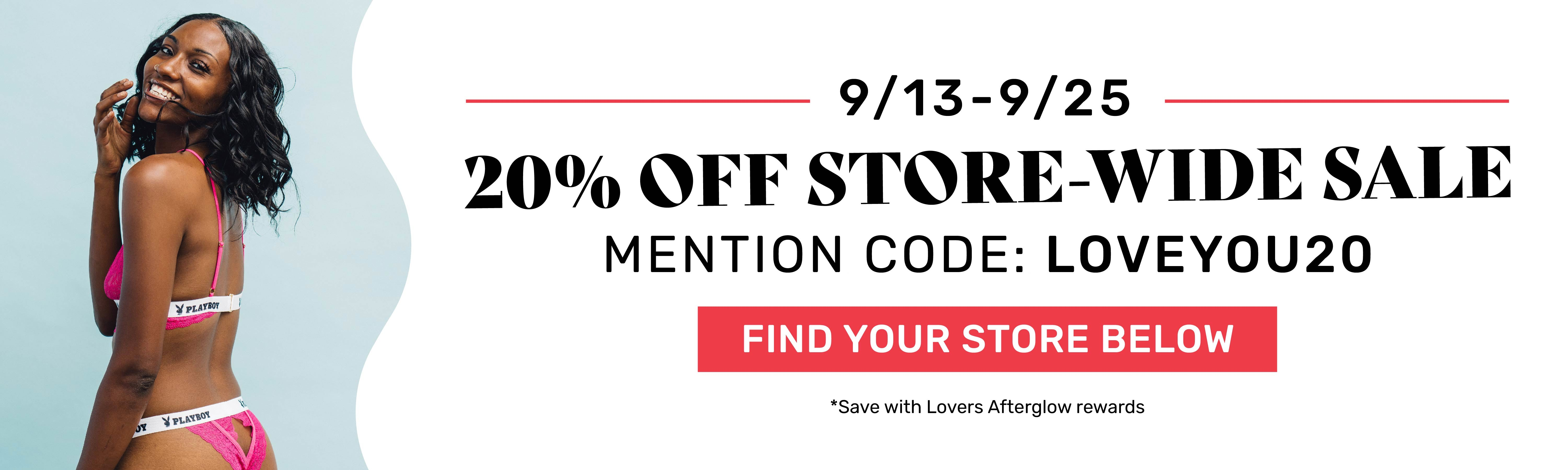 20% Off Lovers Store Wide Sale