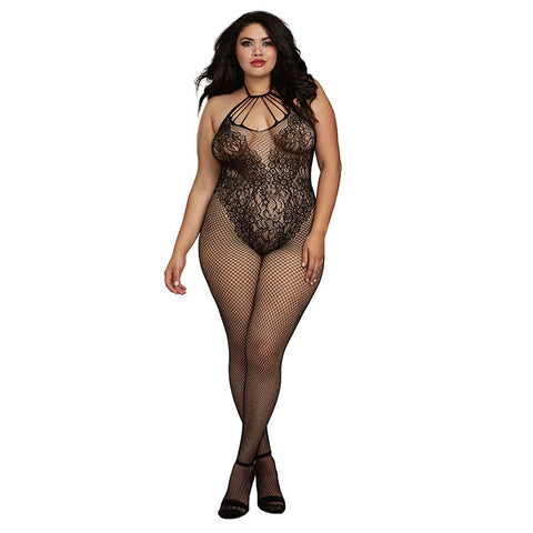 Fishnet Teddy Bodystocking