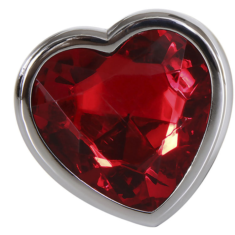 Small Red Heart Gemstone Anal Plug