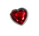 Large Red Heart Gemstone Anal Plug