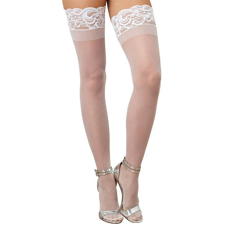 Sheer Thigh High with Stay Up Lace Top