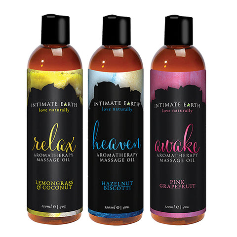 Intimate Earth Almond-Based Massage Oils