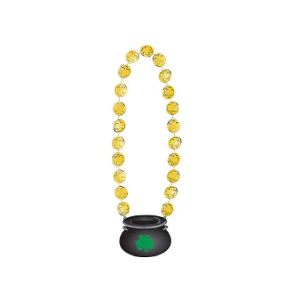 St Patrick's Day Gold Coin Necklace