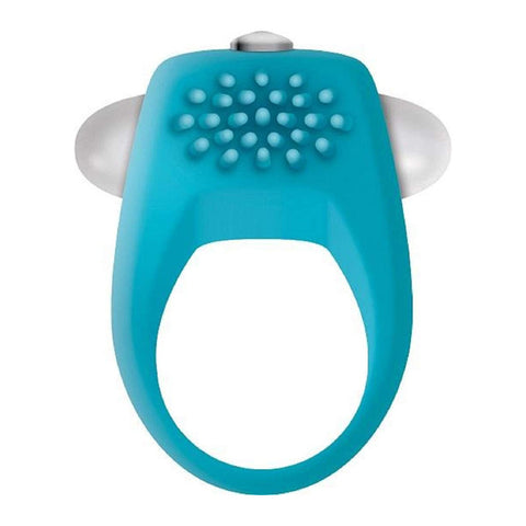 TEAL TICKLER COCK RING