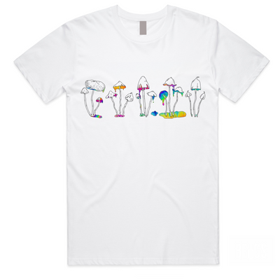 Shrooms in Drip Tee
