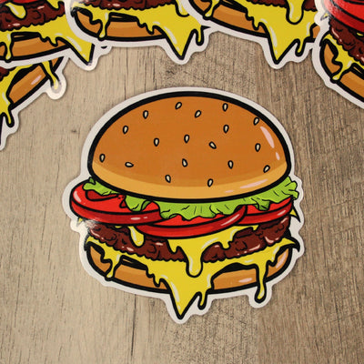 Classic Burger Die Cut Sticker