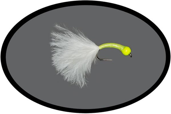 Barbless Hot Head Yellow Bung Fly