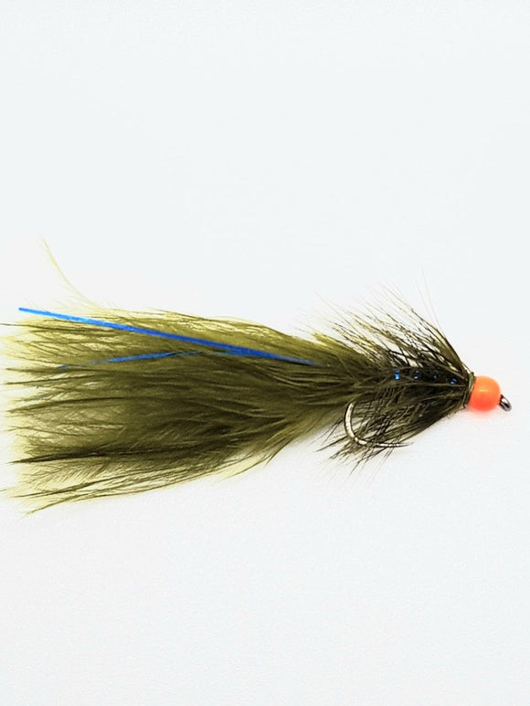 Barbless Hot Head Blue Flash Damsel