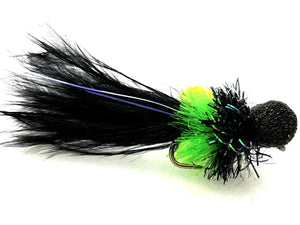Black and Green Booby Size 8 Code B125