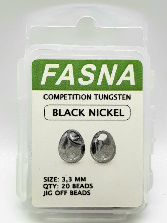 Fasna Competition Tungsten Black Nickel 2.8 &  3.3mm Beads