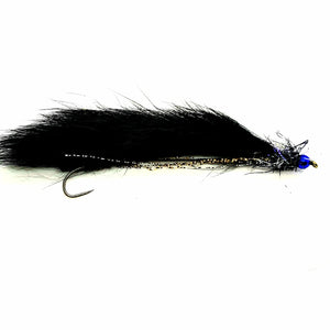 Barbless Metallic Blue Beaded Snake Fly CODE SN9