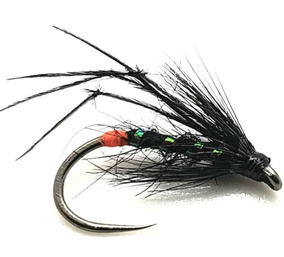 Barbless Red Butt Black Hopper CODE BH1 (s10,12)