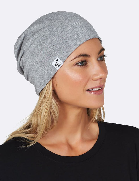 Unisex Soft Jersey Beanie in Light Gray