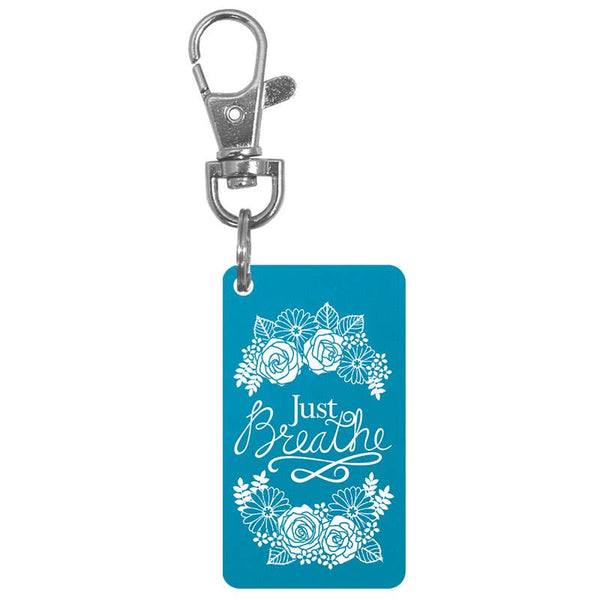Just Breathe Keychain Charm