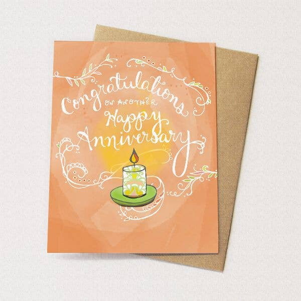 Anniversary Candle Card