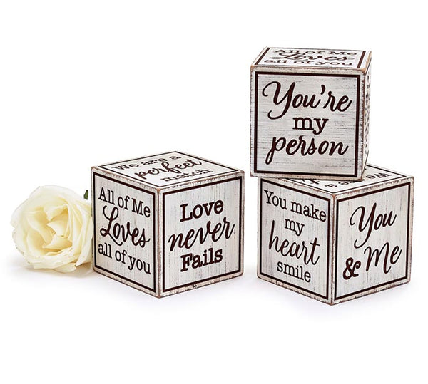 Love Message Wood Block