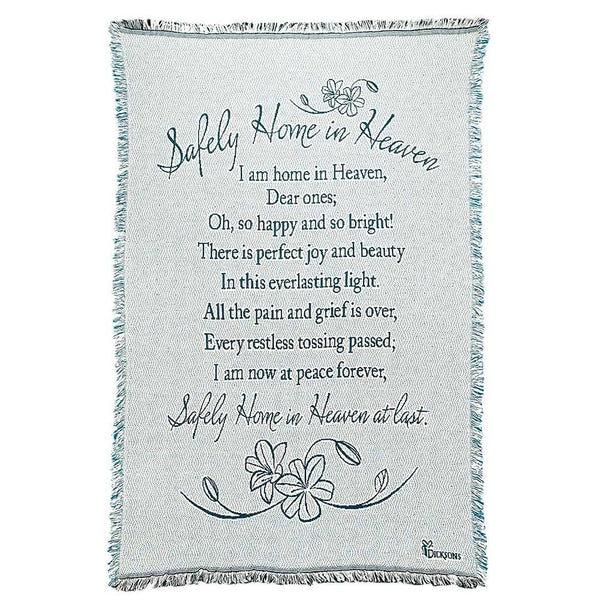Dicksons - THROW SAFLEY HOME-BLUE COTTON 46X68