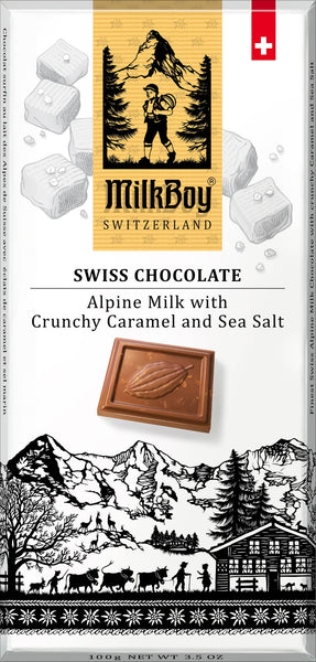 Alpine Milk Chocolate with crunchy Caramel & Sea Salt