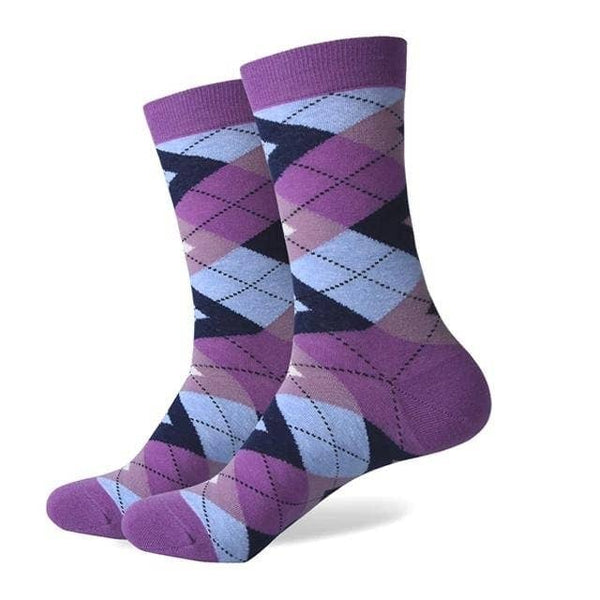 Purple Rain Argyle Socks