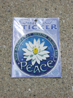 Peace Window Sticker from Mandala Arts