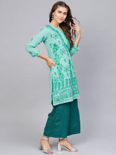 Load image into Gallery viewer, Saadgi Lucknowi Chikan Aari & Net Handwork Kurta