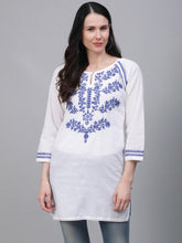 Load image into Gallery viewer, Saadgi Hand EmbroideredWhite Lucknowi Chikankari Short kurti-S45G