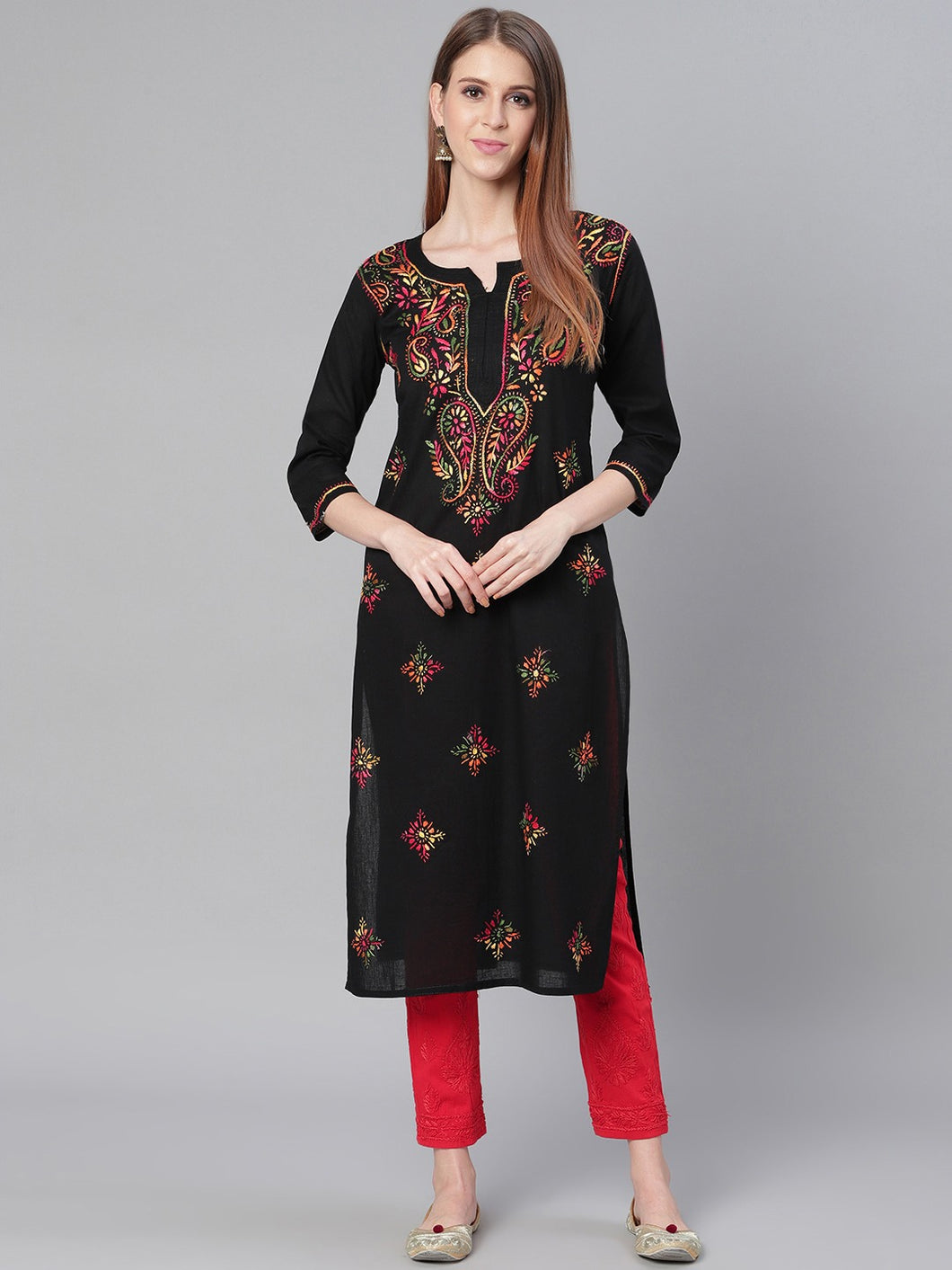Saadgi Chikankari Handwork Kurta with Pants