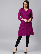 Load image into Gallery viewer, Saadgi Lucknowi Chikan Aari Kurta for Women