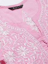 Load image into Gallery viewer, Saadgi Hand Embroidered Pink Lucknowi Chikankari Kurta-SIF031CPIN