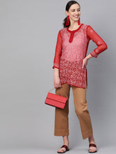 Load image into Gallery viewer, Saadgi Chikankari Handwork Short Kurti