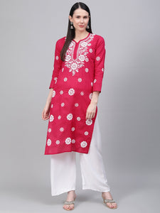 Lucknowi Chikan Embroidered Kurta