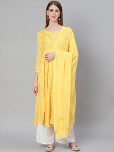 Aari Chikan Gotta Patti Anarkali with Dupatta