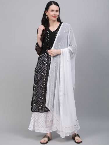 Saadgi Chikankari Kurta with Dupatta and Sharara