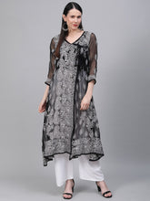 Load image into Gallery viewer, Chikankari Handwork Angrakha Kurta